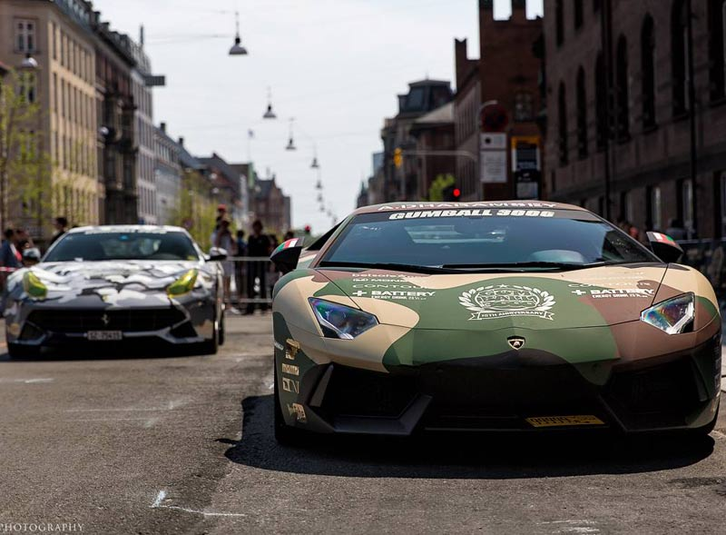 Gumball Rally 2015 premium wrapped vehicles