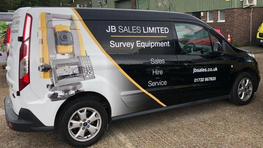JB Sales branded van wrap