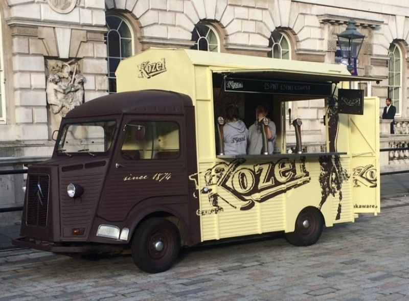 Kozel Beer branded Citroen H-Van conversion