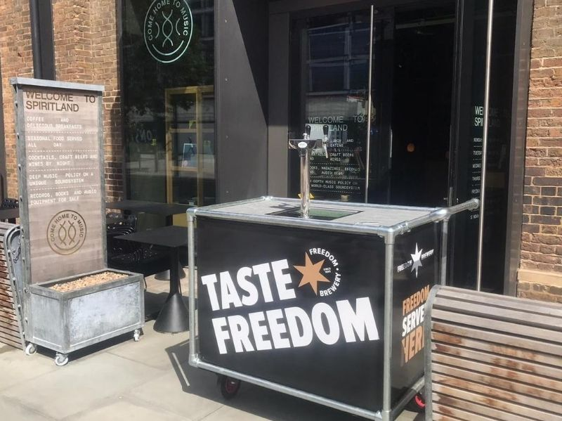 Freedom Brewery wrapped counter