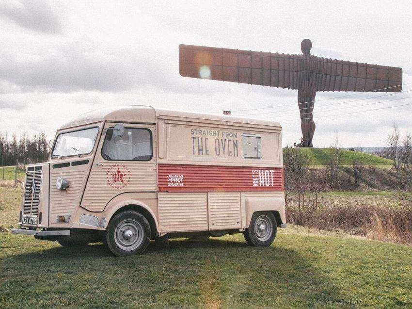 Pret a Manger promotional H van
