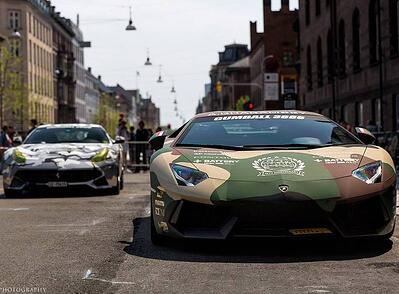 Gumball Rally luxury car wrap