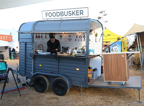 Food Busker horsebox trailer bar