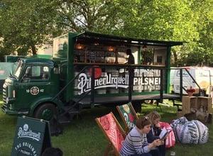 Pilsner Urquell bar truck conversion