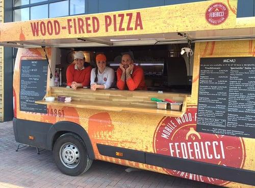 Federicci pizza van - converted from transit van