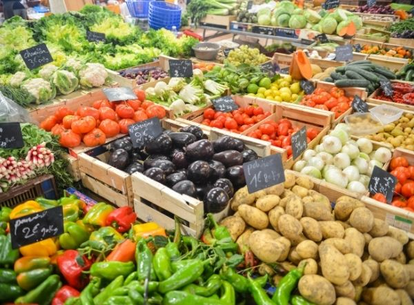 A range of market vegetables - food truck supplies